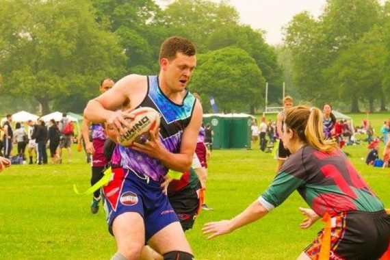 touch rugby in the parc