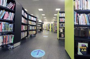 Llandeilo library interior